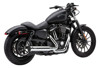 2-into-1 Chrome Full Exhaust - 14+ H-D XL Sportsters