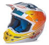 F2 Carbon Helmet Animal Orange/White/Teal X-Small