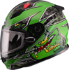 GM-49Y Alien Full Face Helmet Green Youth Large