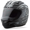 Gm-69 Full-Face Mayhem Helmet Matte Black/Silver/White - 3X-Large