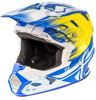 Toxin Resin Helmet White/Yellow/Blue X-Small