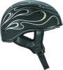 .357 Flame Half Helmet Grey X-Small