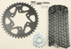 Black Chain & Sprocket Kit - 520 16/41 Conversion HFRS Steel - For 11-17 Kawasaki ZX10R
