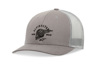 Skullision Trucker Hat Grey/Black One Size Fits All