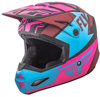 Elite Guild Motorcycle Helmet Matte Neon Pink/Blue/Black Youth Large