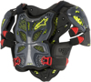 A-10 Full Chest Protector Anthracite/Red M/L