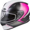 Youth GM-49Y Hail Snow Helmet Black/Pink/White Youth Large