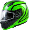 MD-04S MODULAR DOCKET SNOW HELMET HI-VIS GREEN/BLACK - Small