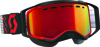 Goggle Prospect Snow Red/Black Amp Red Chrome Lens