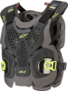 A-1 Plus Chest Protector Black/Anth/Fluo Yellow Medium/Large