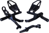 V3 Adjustable Rearset Black - For 15-17 BMW S1000RR