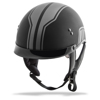 Gm-65 Half Helmet Full Dressed Twin Matte Black/Silver Sm