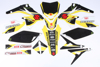 Suzuki Raceline Graphics Complete Kit Black Backgrounds - 10-17 RMZ250