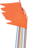 Safety Flags Spring Mount Black 7' 10/PK