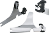 "16"" Tall Rigid Chrome Sissy Bar Complete Kit - For 04-20 Harley XL"