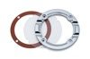 Clear Trap Door Chrome Ring