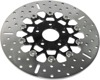 5-Button Black Chrome Floating Brake Rotor - Harley XL1200 R/C