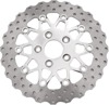 10 Button Contour Floating Rear Brake Rotor - Polished Center