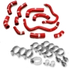 03-04 Honda CRF450R Moose Racing Radiator Hose/Clamp Kit Red