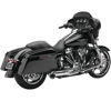 Turnout Chrome 2-into-1 Full Exhaust - 09-16 Harley FLH FLT