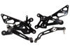 Black Adjustable Rearsets - For 06-16 Yamaha R6