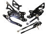 Black Adjustable Rearsets - For 07+ Honda CBR600RR