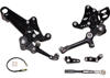 Black Adjustable Rearsets - For 11+ Ducati Diavel