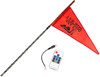 5' Black RF Color LED Flag Whip Rod