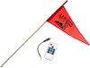 5' White RF Color LED Flag Whip Rod