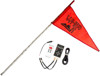 5' White Deluxe RF Color LED Flag Whip Rod