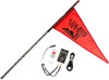 7' Black Deluxe RF Color LED Flag Whip Rod