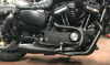 2-1 Sporty Pipe Black Full Exhaust - For 04-17 HD XL Sportster