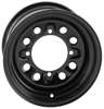 """Steely"" 12x7, 4+3, 4/156 Black Steel Wheel - 13mm Lugholes"
