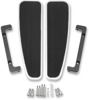 Longboard Adjustable Driver Floorboards Chrome - For 80-20 Harley