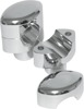"Hefty Risers, Smooth Chrome, 1.5"" Tall for 1.25"" Clamp Diameter"