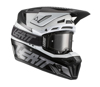 Black & White Moto 8.5 Helmet Kit Composite (DOT+ECE) with 5.5 goggles - X-Small 53-54cm