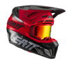 Red Moto 8.5 Helmet Kit Composite (DOT+ECE) with 5.5 goggles - X-Large 61-62cm