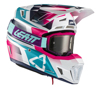 Pink Moto 7.5 Helmet Kit (DOT+ECE) with 4.5 goggles - XX-Large 63-64cm